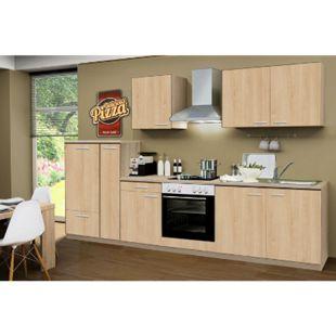 Menke Küchen Küchenzeile Classic 300 cm Sonoma Eiche Nachb. - Glaskeramikkochfeld - Bild 1
