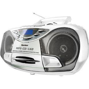 Karcher RR510NW tragbares Stereo-CD-Radio - weiß - Bild 1