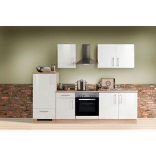 Menke Küchen Küchenzeile Premium Lack 270 cm weiß - Glaskeramikkochfeld - Bild 1