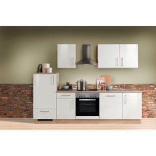 Menke Küchen Küchenzeile Premium Lack 280 cm weiß - Glaskeramikkochfeld - Bild 1