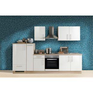 Menke Küchen Küchenzeile Premium Lack 300 cm weiß - Glaskeramikkochfeld - Bild 1