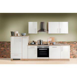 Menke Küchen Küchenzeile Premium Lack 310 cm weiß - Glaskeramikkochfeld - Bild 1