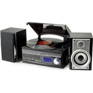 Soundmaster MCD1700 klassischer UKW/MW Stereo-Musikcenter mit CD, Plattenspieler, Kassettenteil und encoding Funktion - Bild 1