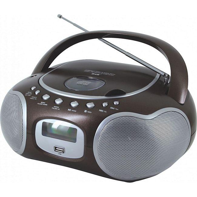 Soundmaster SCD4200BR Stereo-PLL-DAB+ Radio mit CD in braun - Bild 1