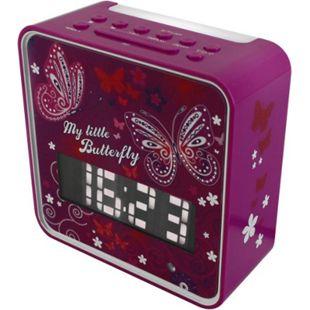 Soundmaster UR270LI PLL UKW Kinder-Uhrenradio mit Nachtlicht und Lichtsensor in lila - Bild 1