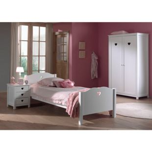 Vipack Set Amori bestehend aus: Einzelbett, Nachtkonsole und Kleiderschrank 2-trg. - Bild 1