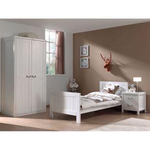 Vipack Set Lewis bestehend aus: Einzelbett, Nachtkonsole und Kleiderschrank 2-trg. - Bild 1