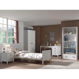 Vipack Set Lewis bestehend aus: Einzelbett, Nachtkonsole, Schreibtisch, Regal und Kleiderschrank 2-trg. - Bild 1