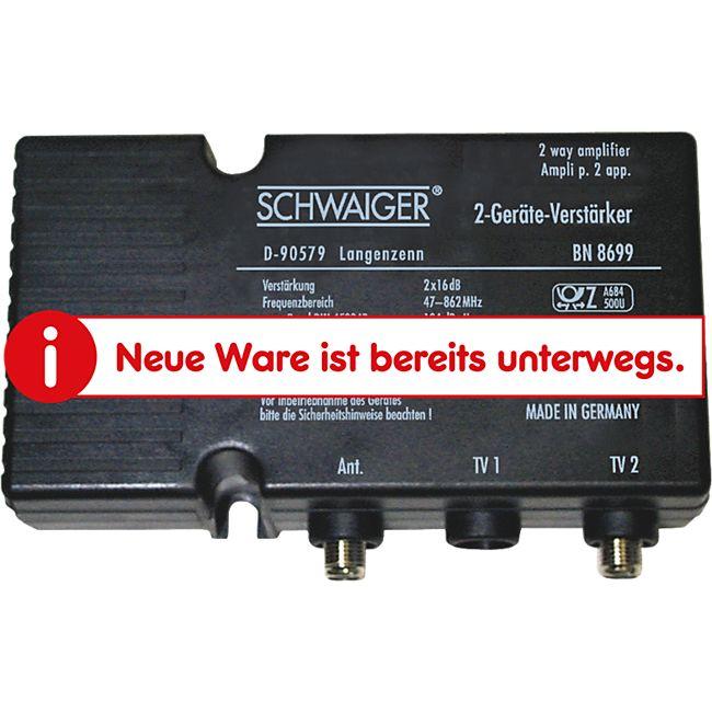 Schwaiger BN8699 531 Zweigeräteverstärker (2x 18 dB) - Bild 1
