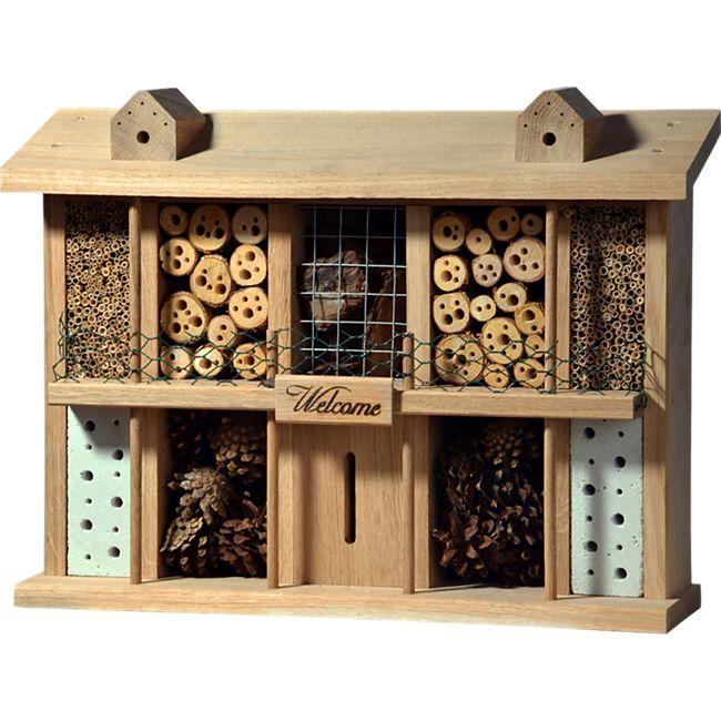 """Luxus-Insektenhotels """"Landsitz Superior"""" Eichenholz-Insektenhotel - Bild 1"""
