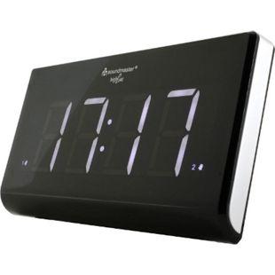 Soundmaster UR8400 Jumbo-LED-Alarm PLL-Uhrenradio mit 2 Weckzeiten und dimmbaren Display - Bild 1