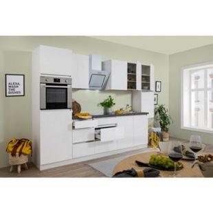 Respekta Premium grifflose Küchenzeile GLRP320HWW 320 cm Weiß HG-Weiß - Bild 1