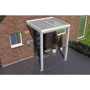 REXOvita Titan Haustür-Vordach 200 x 150 cm weiß mit Stegplatten - Bild 1
