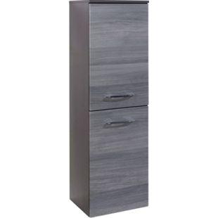 HELD Möbel Florida Midischrank - 40 cm - Eiche-Rauchsilber/Graphitgrau - Bild 1