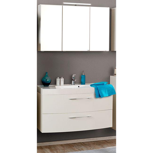 HELD Möbel Florida Waschtisch-Set 1 - Weiß Hochglanz - Bild 1