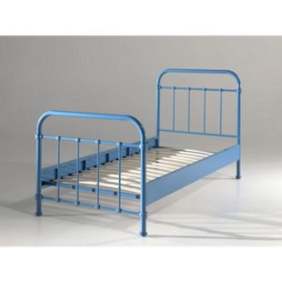Vipack Metallbett New York 90x200 cm, blau - Bild 1