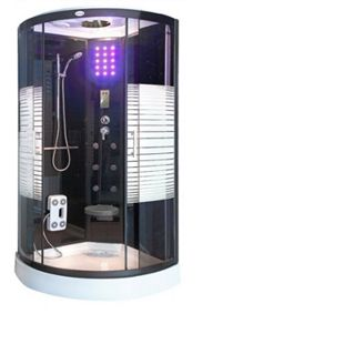 Home Deluxe Black Crystel Dampfduschkabine 100x100 cm - Bild 1