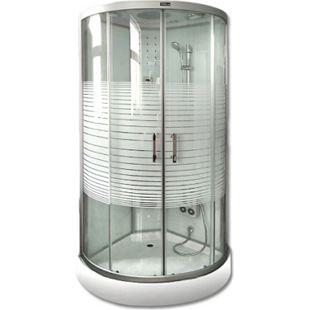 Home Deluxe White Crystel Dampfduschkabine 90x90 cm - Bild 1