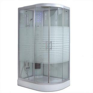Home Deluxe White Crystel Dampfduschkabine, 120x80 cm rechts - Bild 1