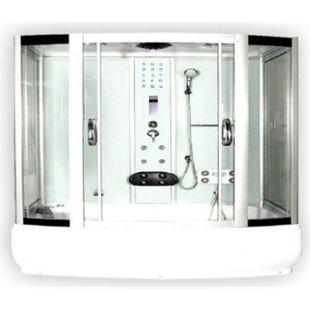 Home Deluxe Diamond Dampfduschkabine, weiß - Bild 1