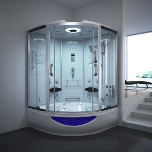 Home Deluxe Exclusive Dampfduschkabine, weiß - Bild 1