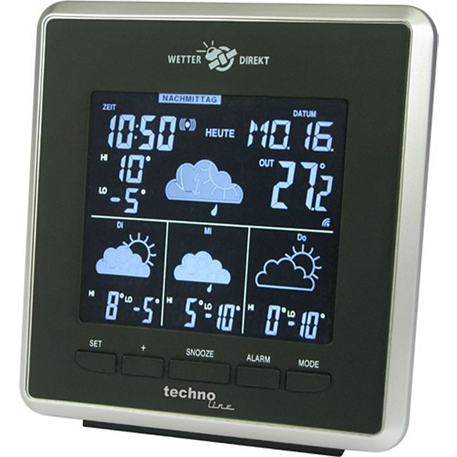 TechnoLine WD 4025 WetterDirekt Station Negativ-Display - Bild 1