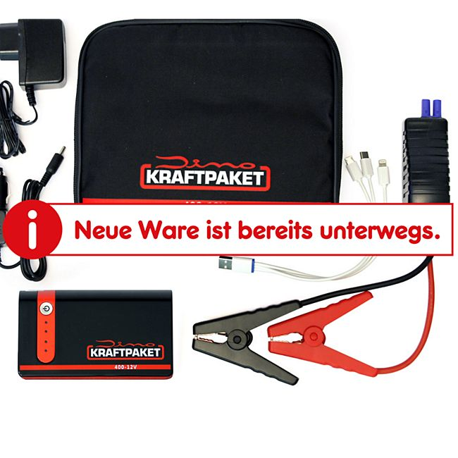 Dino KRAFTPAKET 136103 12V Starthilfegerät 9.000 mAh 400A - Bild 1