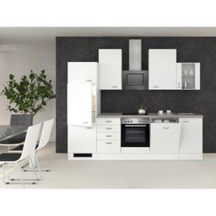 Flex-Well Küchenzeile G-280-2301 + Glas Wito 280 cm - Bild 1