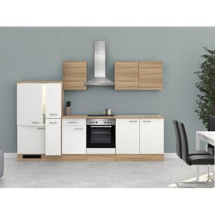 Flex-Well Küchenzeile G-300-2504 + Haube 6091 Samoa 300 cm - Bild 1