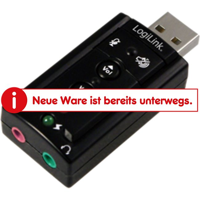LogiLink UA0078 USB Soundkarte mit Virtual 7.1 Soundeffekt - Bild 1