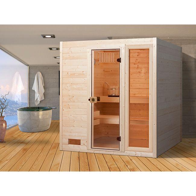 Weka Sauna Valida 2 mit Zusatzfenster, 189 x 203 x 189 cm - Bild 1
