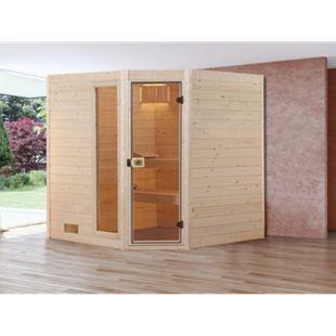 Weka Eck-Sauna Valida 2 mit Zusatzfenster, 189 x 203,5 x 189 cm - Bild 1