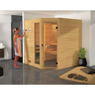 Weka Eck-Sauna Valida 3 mit Zusatzfenster, 239 x 203 x 189 cm - Bild 1