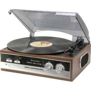 Soundmaster PL186H Nostalgie Plattenspieler mit Radio, eingebaute Stereolautsprecher - Bild 1