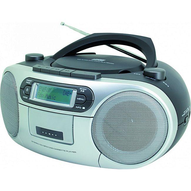 Soundmaster SCD7900SW DAB+ Boombox mit CD/MP3 und Kassette - schwarz - Bild 1