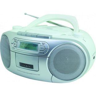 Soundmaster SCD7900WE DAB+ Boombox mit CD/MP3 und Kassette - weiß - Bild 1