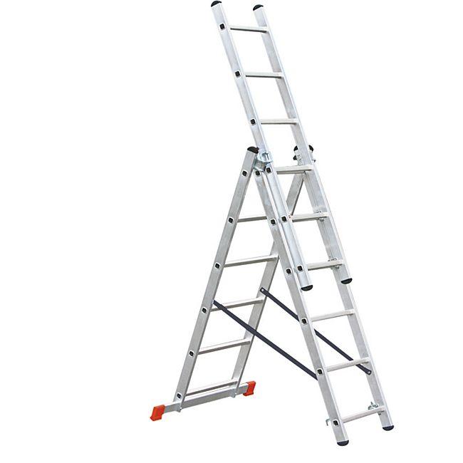 BRB Alu-Vielzweckleiter, 3x6 Stufen - Bild 1