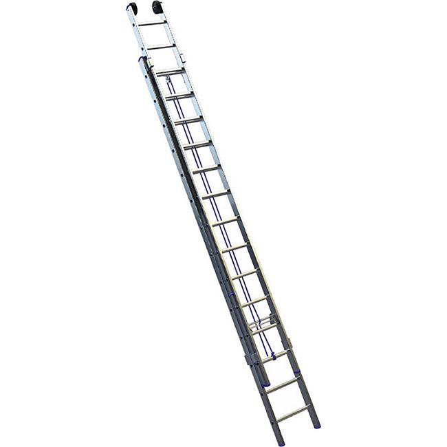 BRB Alu-Seilzugleiter, 2x14 Sprossen - Bild 1