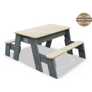 EXIT Aksent Sand-, Wasser- und Picknicktisch, 2 Sitzflächen inkl. Sonnenschirm und Gartenwerkzeug - Bild 1