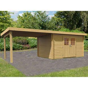 Woodfeeling Bastrup 7 Gartenhaus, inkl. Schleppdach - Bild 1