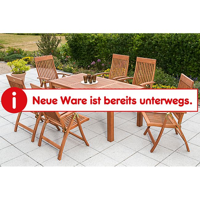 Merxx Tischgruppe Comodoro 7-tlg., inkl.Vierfußtisch 170 x 90 cm - Bild 1