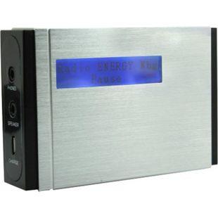 Soundmaster DAB400SI tragbarer DAB+/UKW PLL-Radio mit eingebautem Akku in hochwertiger Aluminiumoptik - Bild 1