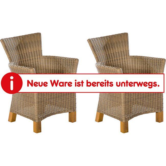 Merxx Lounge Sessel Toskana 2er Set, natur - Bild 1