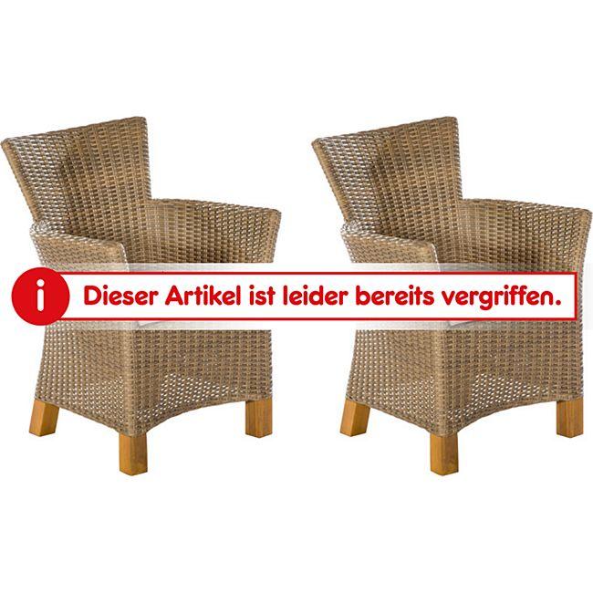 merxx lounge sessel toskana 2er set natur online kaufen. Black Bedroom Furniture Sets. Home Design Ideas