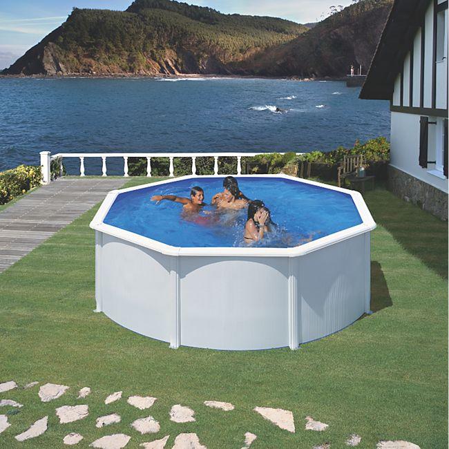 Gre bali dream pool rund 350 x 120 cm stahlwandbecken for Stahlwandbecken set rund