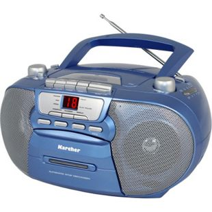Karcher RR 5040-C Oberon Top-Loading-CD-Player - blau - Bild 1