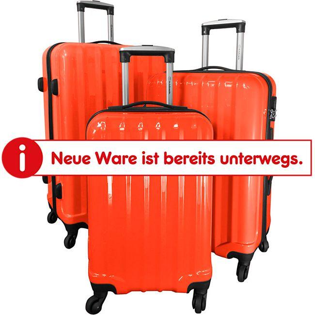 Polycarbonat-ABS-Kofferset Miami 3-teilig orange - Bild 1