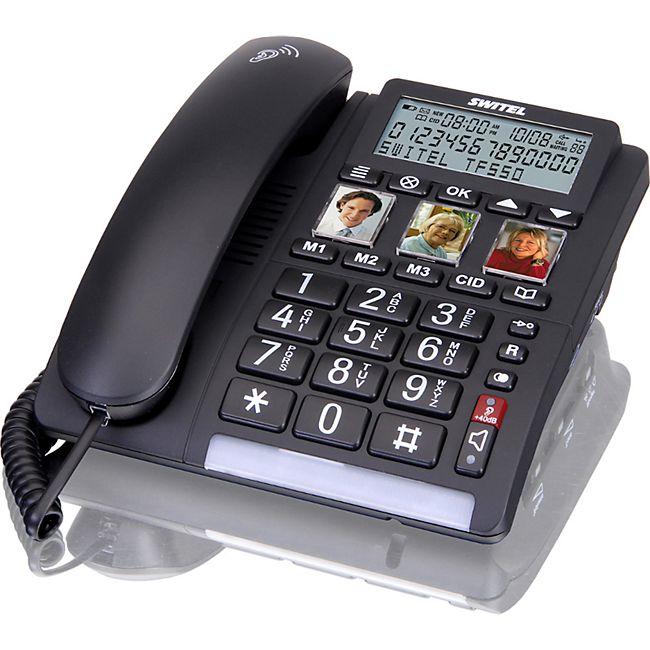 Switel TF550 Komfort-Telefon mit großem Display und Foto-Tasten - Bild 1