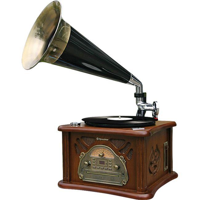 Roadstar HIF-1850TUMPK Retroplattenspieler mit CD, MP3, Kassette und Radio - Bild 1