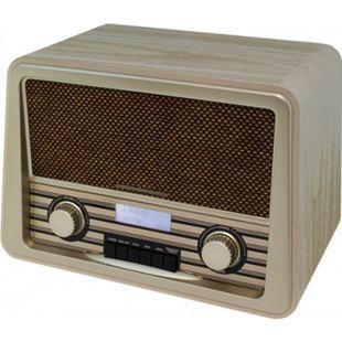 Soundmaster NR920HBR DAB+/UKW Nostalgie-Radio mit top Klang 2 Watt RMS - hellbraun - Bild 1